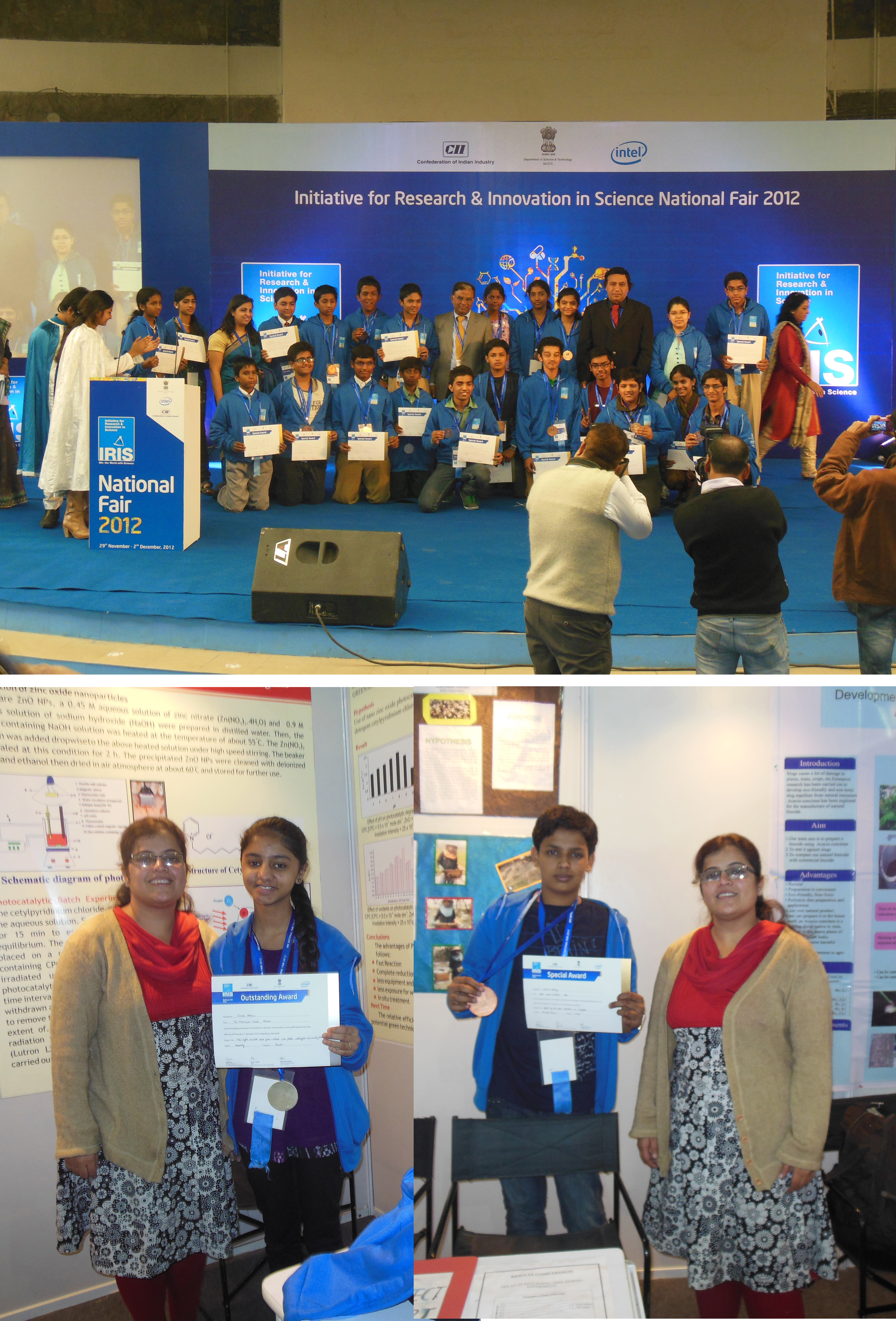 ALLEN's Pre Nurture Division students honored with Silver & Bronze Medals at IRIS-2012