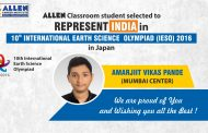 ALLEN Student to represent India in International Earth Science Olympiad