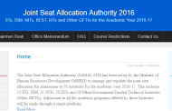 Important FAQ's by candidates for Joint Seat Allocation