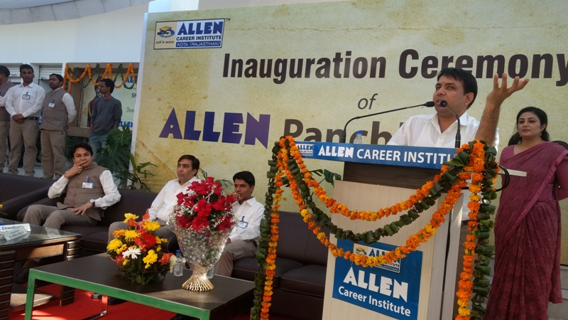 Sh. C.R. Chaudhari Sir at ALLEN Panchkula Center Inauguration