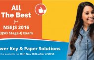 NSEJS 2016 Answer Key & Solutions by ALLEN Career Institute will be Available on 20 Nov.