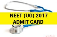 Admit cards for NEET-UG 2017 Exam released by CBSE. Download from official website