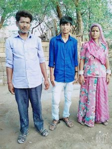 Champalal Raigar with his Parents