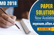33rd Indian National Mathematical Olympiad (INMO)-2018 Paper Solution Now Available