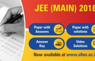JEE Main 2018 Answer Key, Paper Solution & Video Solutions by ALLEN Career Institute