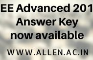 JEE Advanced 2018 Answer Key with Paper Solutions by ALLEN : Download Now