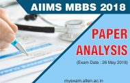 AIIMS MBBS 2018 Paper analysis for the exam held on 26th May, 2018