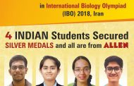 ALLEN Career Institute secures four silver medals in IBO 2018
