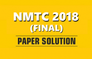 NMTC 2018 (Final) Paper Solution by ALLEN Career Institute now available