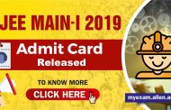 JEE Main Admit Card Released at Jeemain.nic.in, Follow the given Steps to download hall ticket