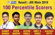 5 Students of ALLEN Career Institute secured 100 percentile in JEE Main 2019