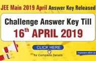JEE Main 2019 April Answer Key Released: Challenge answer key Till April 16