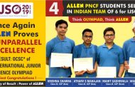 4 ALLEN Students to represent Team INDIA in 16th International Junior Science Olympiad