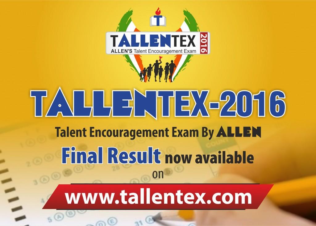 Tallentex 2016 result