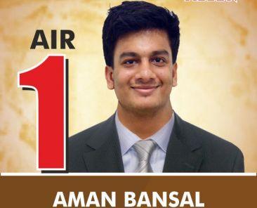 JEE Advanced 2016 All India Topper (AIR-1) Aman Bansal