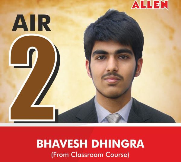 JEE Advanced 2016 All India Topper (AIR-2) Bhavesh Dhingra