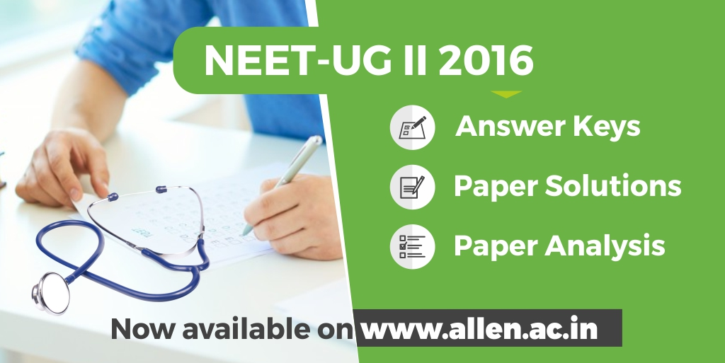NEET UG 2016 Answer Key