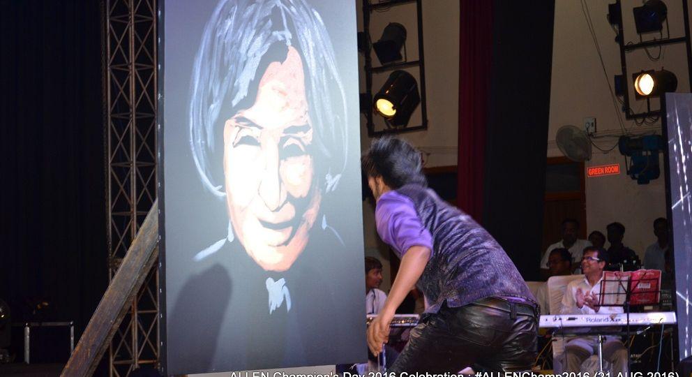 Vilas Nayak amazing painting at ALLEN Champ