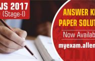 NSEJS 2017 Answer Key & Paper Solutions by ALLEN Career Institute now available
