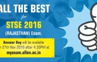 Rajasthan STSE 2016 Answer Key with Solution will be available on 27 November 2016