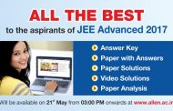JEE Advanced 2017 Answer Keys, Paper & Video Solutions & Expert Analysis