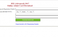 JEE Advanced 2017 Admit Card is now available
