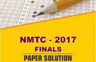 NMTC 2017 (Finals) Paper Solution by ALLEN Career Institute Available Here