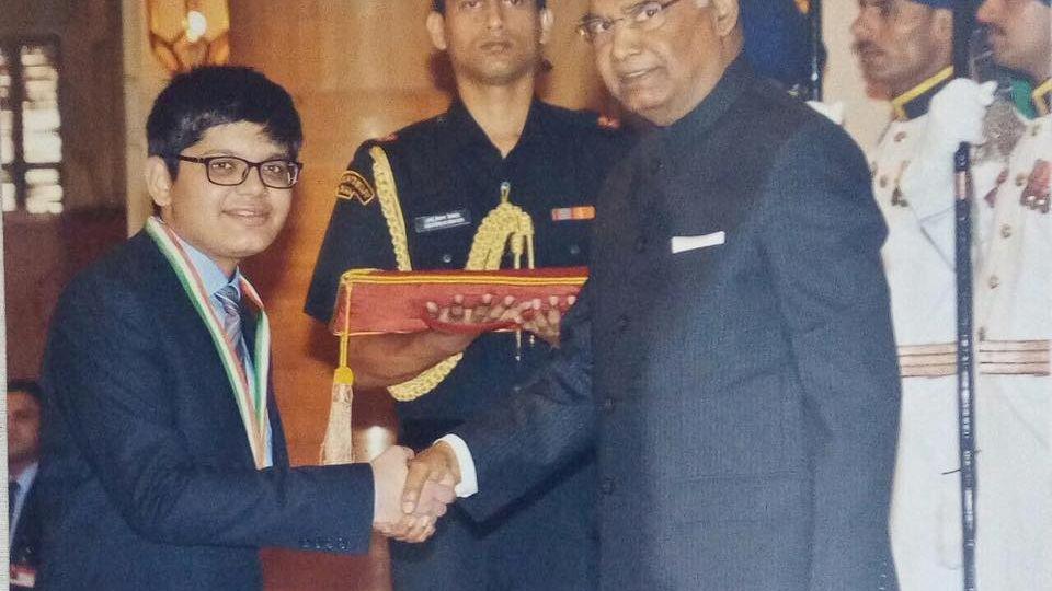 Nishant Abhangi National Child Award Winner 2017 ( Silver Medal )