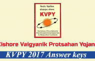 KVPY 2017 tentative Answer Keys have been released for SA, SB, SX streams