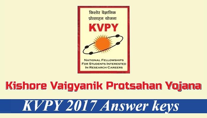 kvpy-2017 Answer Keys