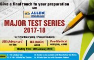 ALLEN announces DLP Major Test Series 2017-18 for JEE-Advanced/JEE-Main/ (NEET (UG)/AIIMS