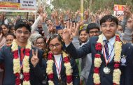 Winners of IJSO 2017 received a Grand Welcome upon their Return