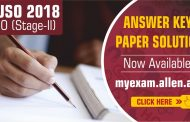 Indian National Junior Science Olympiad (INJSO) 2018 Answer Keys & Solutions Now Available