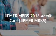 JIPMER MBBS Admit Card 2018 Released : Download Now