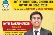 ALLEN Career Institute's Dhyey Sankalp Gandhi to represent India in IChO-2018