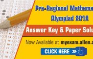 Pre-Regional Mathematical Olympiad (PRMO) 2018 Answer Key & Paper Solution
