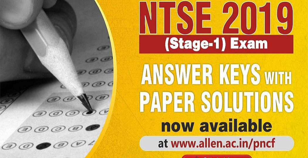 NTSE 2019 stage 1 Answer Keys & Solution