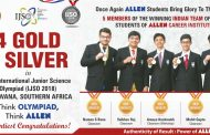 IJSO 2018 Result : Students of ALLEN Career Institute Bagged 4 Gold and 1 Silver Medal in IJSO-2018
