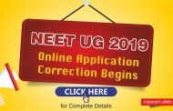 NEET UG- 2019 Online Application Correction Begins: Check Details Here