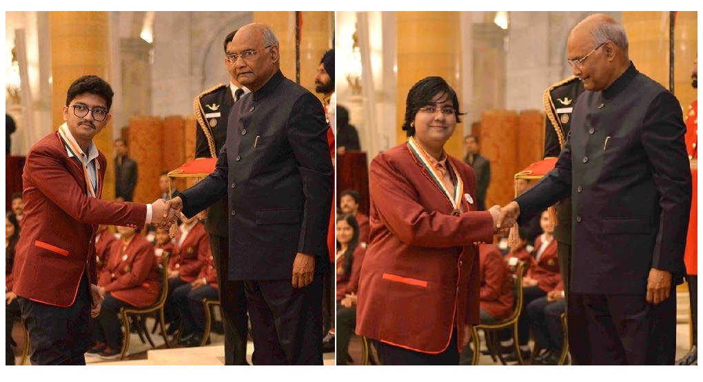 National Child Award presented to ALLEN Students by Hon President Ramnath Kovind