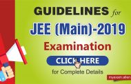 Important Guidelines for the Candidates of JEE Main-2019