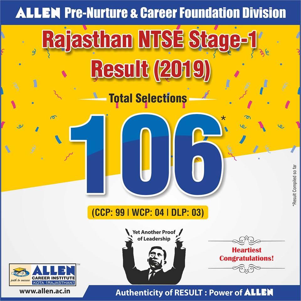NTSE 2019 Result