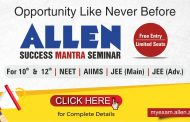 Experts of ALLEN Career Institute to guide students in Success Mantra Seminar in your city