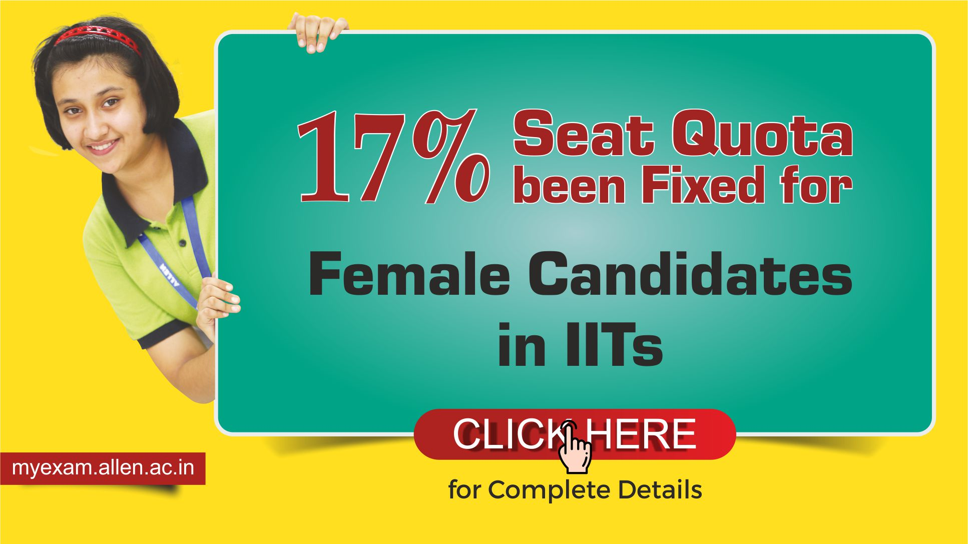 17% Seat Quota been Fixed for Female Candidates in IITs