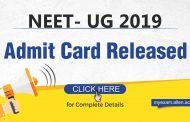 NEET UG 2019 Admit Card Released: Check how to download