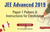 JEE Advanced 2019 Paper 1 Pattern & Instructions for Candidates