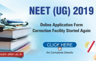 NEET (UG)-2019: Online application form correction facility begins, Read Complete Details