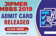 JIPMER MBBS 2019 admit card released: Check how to download