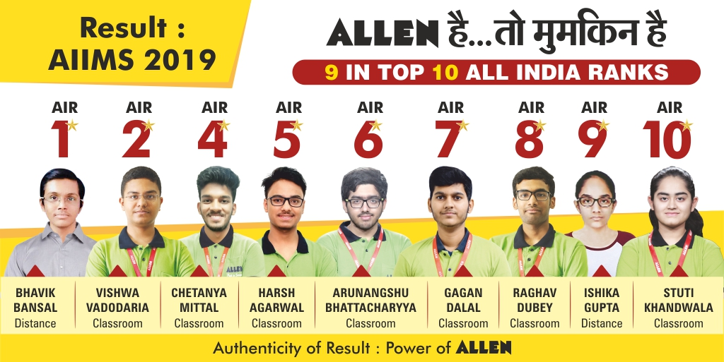 AIIMS 2019 Result | ALLEN Career Institute