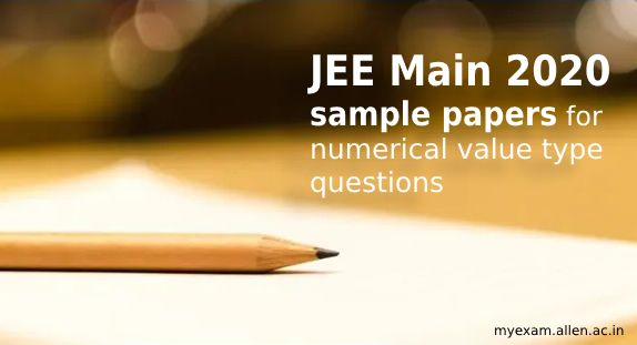jee main sample papers